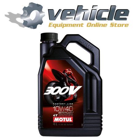 10W40 Motul 300V 4T Ester Core 100% Synthetische Racing Motorolie - 4 liter