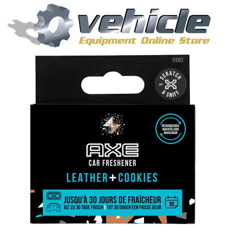 AXE Navulling Luchtverfrisser Alu Houder Leather + Cookies 2 Stuks
