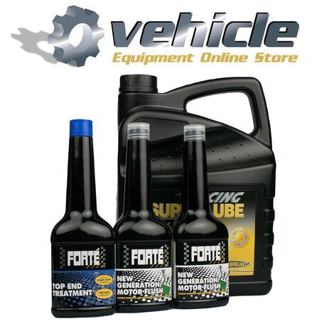 10W60 Motorolie & Forte Motor Flush Pack 2