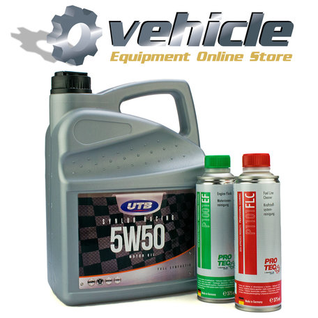 5W50 Motorolie & Engine Flush & Fuel Line Cleaner