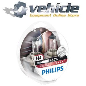 0730529 Philips H4 VisionPlus 12342VPS2 2 stuks